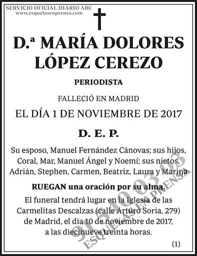 María Dolores López Cerezo